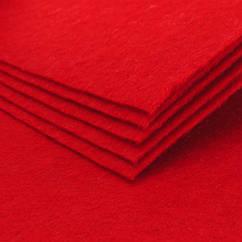Фетр, Полиэстер, Цвет: Красный, Размер: 298~300x298~300x1мм, 1шт 1 шт