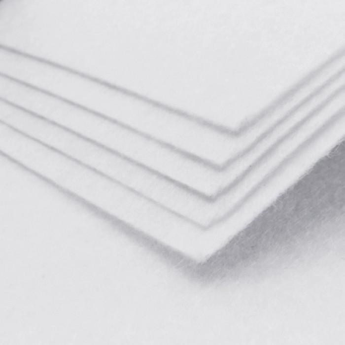 Фетр, Полиэстер, Цвет: Белый Дым, Размер: 298~300x298~300x1мм, 1шт/ Упак.: 1 шт