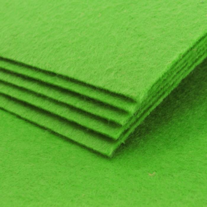 Фетр, Полиэстер, Цвет: Салатовый, Размер: 298~300x298~300x1мм, 1шт/ Упак.: 1 шт