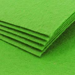 Фетр, Полиэстер, Цвет: Салатовый, Размер: 298~300x298~300x1мм, 1шт 1 шт