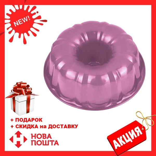 Форма для выпечки кекса Benson BN-1055 розовая | форма для выпекания Бенсон | металлическая формочка Бэнсон