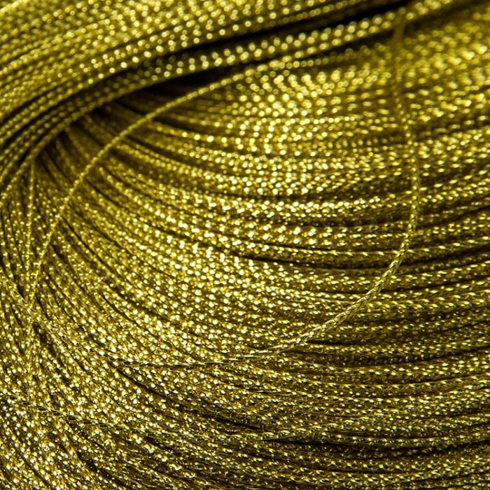 Шнур Металлический, Цвет: Золотистый, Размер: Диаметр 0.8мм, около 100м/связка