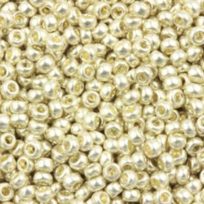 Бисер 18503 Чешский Preciosa 10/0, Солгель металлик CSM, Серый, Круглый/ Упак.: 50 г