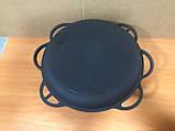 Чавунний казан 6л з чавунною кришкою сковорідкою, фото 2