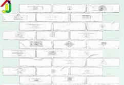"Панель ПВХ Регул Листовая Премиум Кирпич ""Крафт"", на стену, на потолок"