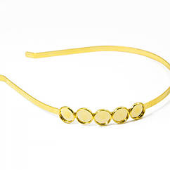 Обруч из Латуни, Цвет: Золото, Размер: Диаметр 14мм, Ширина 5мм/ Упак.: 1 шт