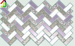 """Панель ПВХ Регул Листовая Премиум Плитка """"Перламутровая Роза"""", на стену, на потолок"""