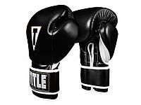 Боксерские перчатки TITLE Boxeo Mexican Leather Training Gloves Tres тренировочные, черные, кожаные