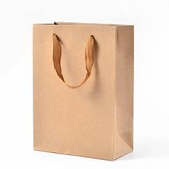 Пакет из Крафтовой Бумаги, с Нейлоновой Ручкой, Цвет: Бежевый, Размеры: 16x12x5.7см/ Упак.: 5 шт