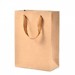 Пакет из Крафтовой Бумаги, с Нейлоновой Ручкой, Цвет: Бежевый, Размеры: 20x15x6см/ Упак.: 5 шт