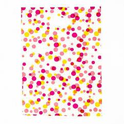 Полиэтиленовый Пакет с Рисунком в Горошек, Цвет: Разноцветный, Размер: 34х25см, (УТ100011814)