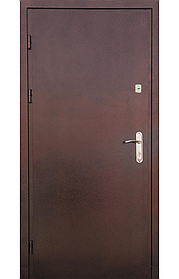 Утепленные входные двери на улицу «Редфорт» металл-металл