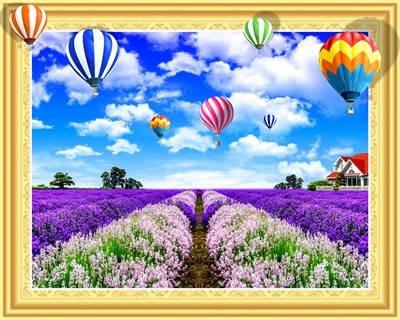 """ELT0479 Алмазная мозаика по номерам 40*50 объемная """"Воздушные шары"""" карт уп. (холст на раме), фото 2"""