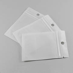 ЗИП Пакет Белый/Прозрачный, с подвесом, замок ZIP Lock, Размер: 10х7см, Внутренний размер: 7x6см/ Упак.: 20 шт