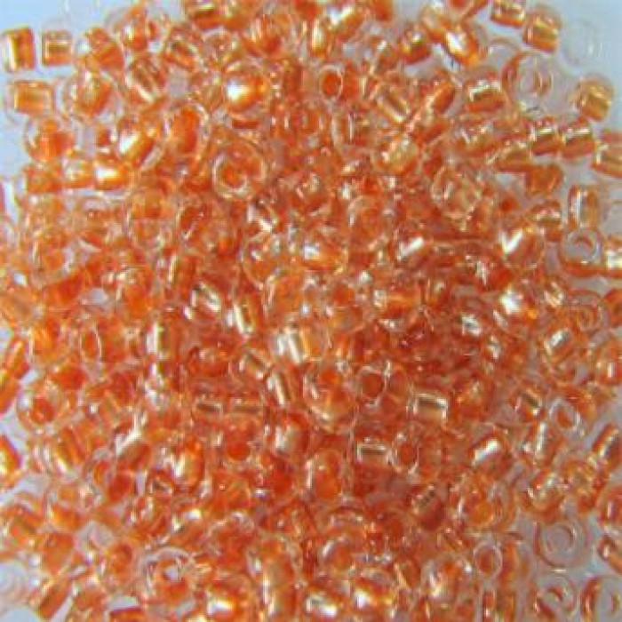 Бисер 38918 Чешский Preciosa 10/0, Прозрачный Окраска из Середины CTC, Оранжевый, Круглый/ Упак.: 50 г