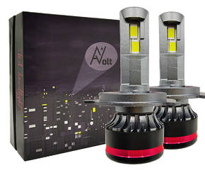 H4 AV SX Светодиодная лампа 5000K 13200 Lm Canbus 55w (комплект)