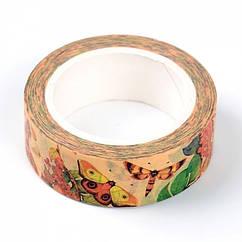 Декоративный Скотч, Цвет: Разноцветный, Ширина: 15мм, около 10м/катушка