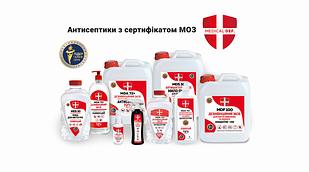 Антисептик спиртовий 72+. ТМ Medical Def.