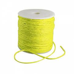 Мотузка декоративна, Колір: Жовтий, Розмір: Товщина 2мм/ Упак.: 10 м