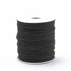Мотузка декоративна, Колір: Чорний, Розмір: Товщина 2мм/ Упак.: 10 м