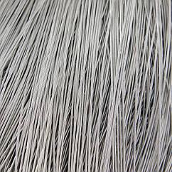 Канитель Гладкая, Цвет: Серебро, Отрезки не Менее 15см, Диаметр 1мм, около 580см/10г, 10 г