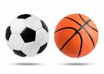 Мячи футбольные, баскетбольные