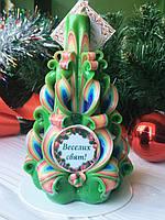 Рождественская свеча с пожеланиями