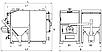 Пеллетный промышленный котел Kraft PromF 1000 кВт с факельной горелкой и жаротрубным теплообменником, фото 4