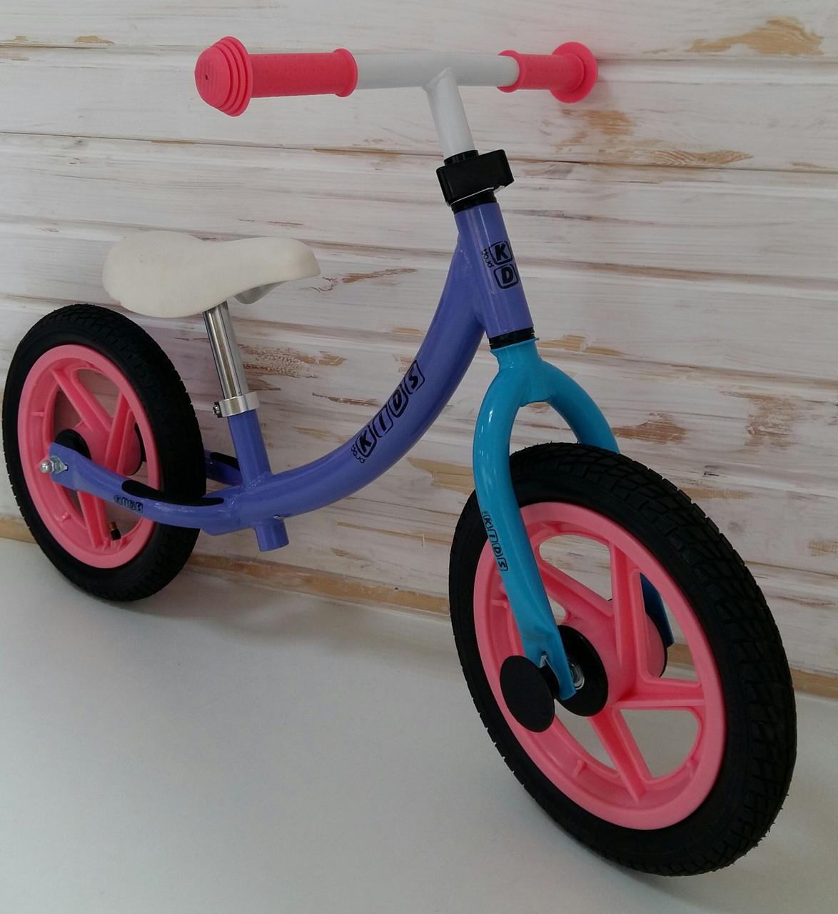 Дитячий беговел 12 дюймів PROFI KIDS M 3437A-6 гумові колеса (бузковий)
