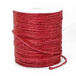 Мотузка Декоративна, Колір: Темно-червоний, Розмір: Товщина 2мм/ Упак.: 10 м
