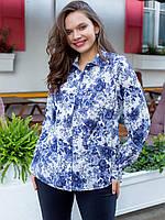 Vikamoda Блуза size+ в цветочный принт 3079