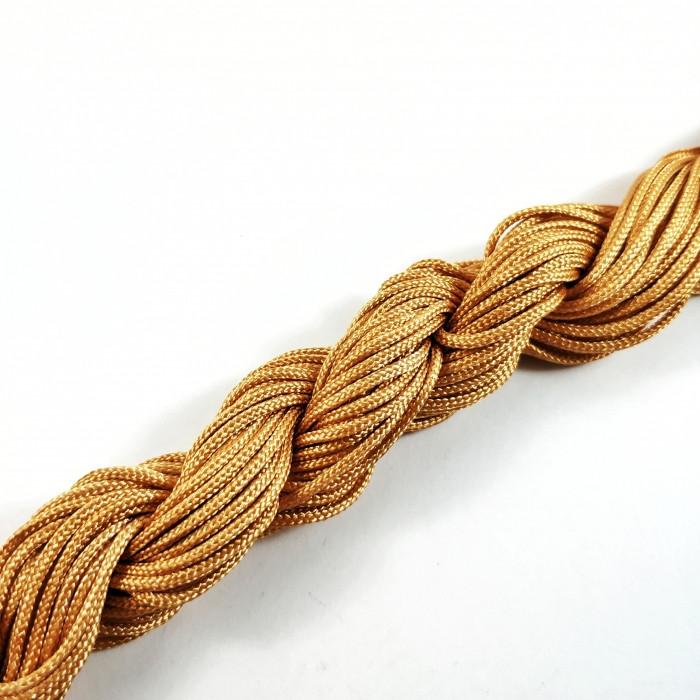 Шнур Нейлоновый, Цвет: Бежевый, Размер: Диаметр 2мм, около 12м/связка