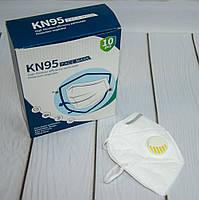 Защитные маски с угольным фильтром (10 шт./уп.) KN95 защитный респиратор с клапаном (NS), фото 1