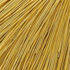 Канитель Гладкая, Цвет: Золото, Отрезки не Менее 15см, Диаметр 1мм, около 580см/10г, 10 г