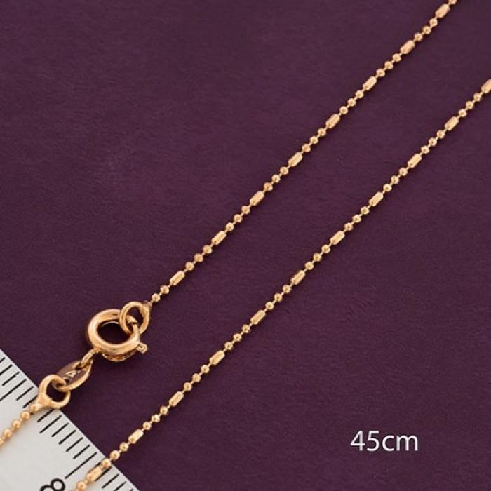 Цепь Xuping Эко Латунь, Покрытие Золото 18К, Гипоаллергенная, Длина Цепочки 45см/ Упак.: 1 шт
