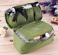 Органайзер дорожный, сумка, косметичка для вещей и мелочей с кошельком-карманом на змейке