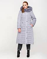 Зимняя длинная куртка с песцовой опушкой, разные цвета