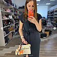 Сумка реплика Гермес Биркин 20см с брелком + коробка с лого / натуральная кожа (264) Бежевый, фото 2