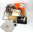 Сумка реплика Гермес Биркин 20см с брелком + коробка с лого / натуральная кожа (264) Бежевый, фото 3