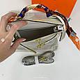 Сумка реплика Гермес Биркин 20см с брелком + коробка с лого / натуральная кожа (264) Бежевый, фото 6