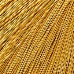 Канитель Гладкая, Цвет: Медово-золотой, Отрезки не Менее 15см, Диаметр 1мм, около 580см/10г, 10 г