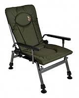 Кресло карповое складное Elektrostatyk F5R с подлокотниками и регулируемой спинкой (ДО 110 кг)