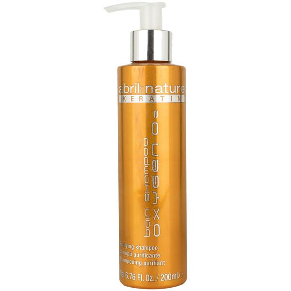 Шампунь для чувствительных волос Abril et Nature Keratin Oxygen O2 Bain Shampoo 200 мл