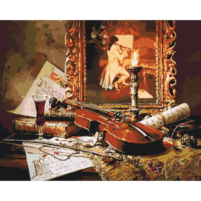 """Набір для розпису по номерах. Заміський будинок """"Чарівна музика скрипки"""" 40*50см"""