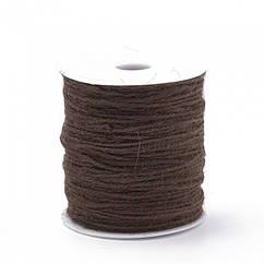 Мотузка декоративна 2мм, Колір: Коричневий, Розмір: Товщина 2мм/ Упак.: 10 м