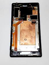 Дисплейний модуль Sony M2 D2305 чорний оригінал розбирання, фото 2