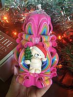 Новорічна свічка з ніжним ведмедиком Тедді