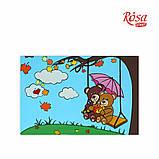 Холст на картоне с контуром, Мультфильм №25, «Мишки на качелях», 20*30, хлопок, акрил, ROSA START, фото 2