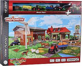 Игровой набор Majorette Креатикс Большая ферма с 5 машинками (2050009)