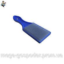 Щетка металлическая с пластиковой ручкой, 180мм